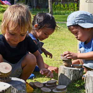 Preschool-Group-using-natural-materials-for-learning