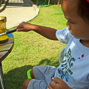 Preschool-outdoor-painting